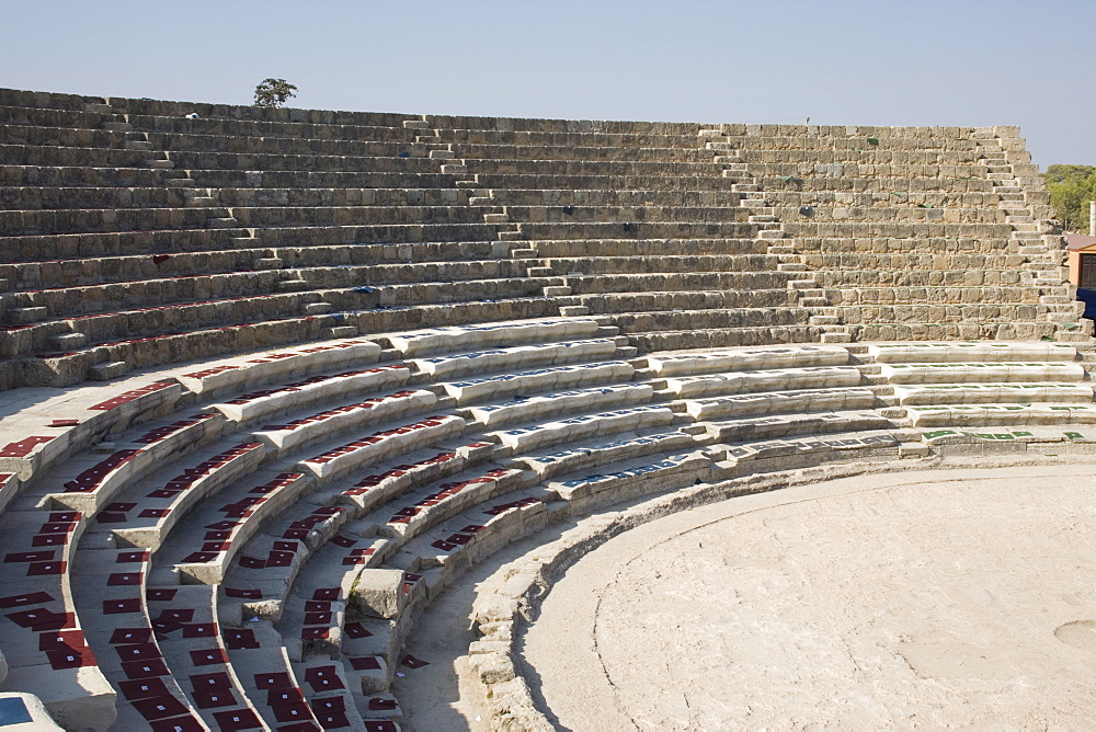 Amphitheatre, archaeological site of Salamis, Salamis, North Cyprus, Europe