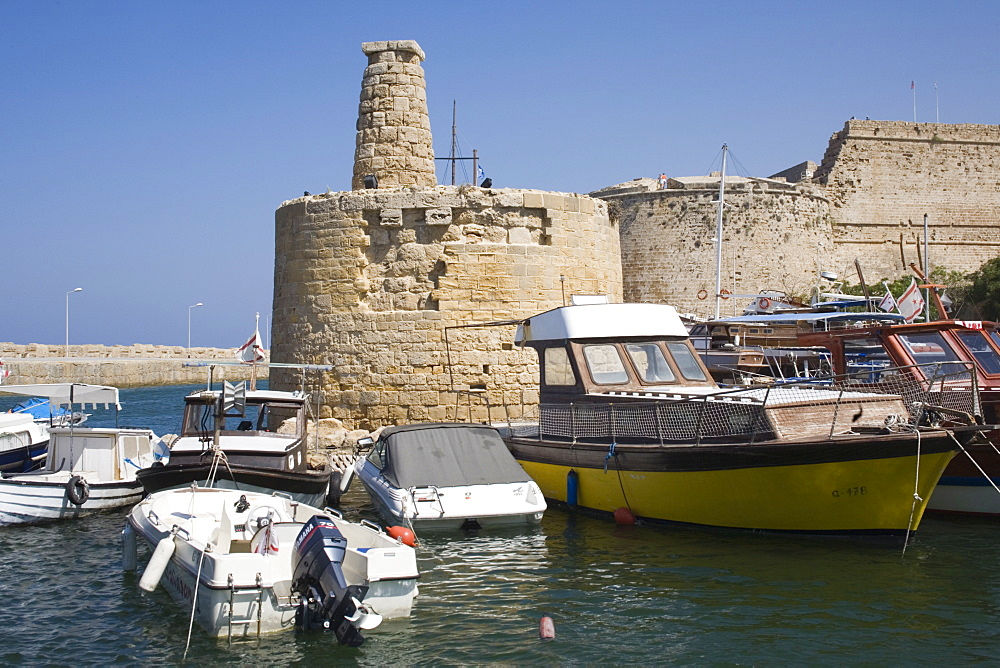 Fort and Harbour, Kyrenia, North Cyprus, Mediterranean, Europe - 783-80