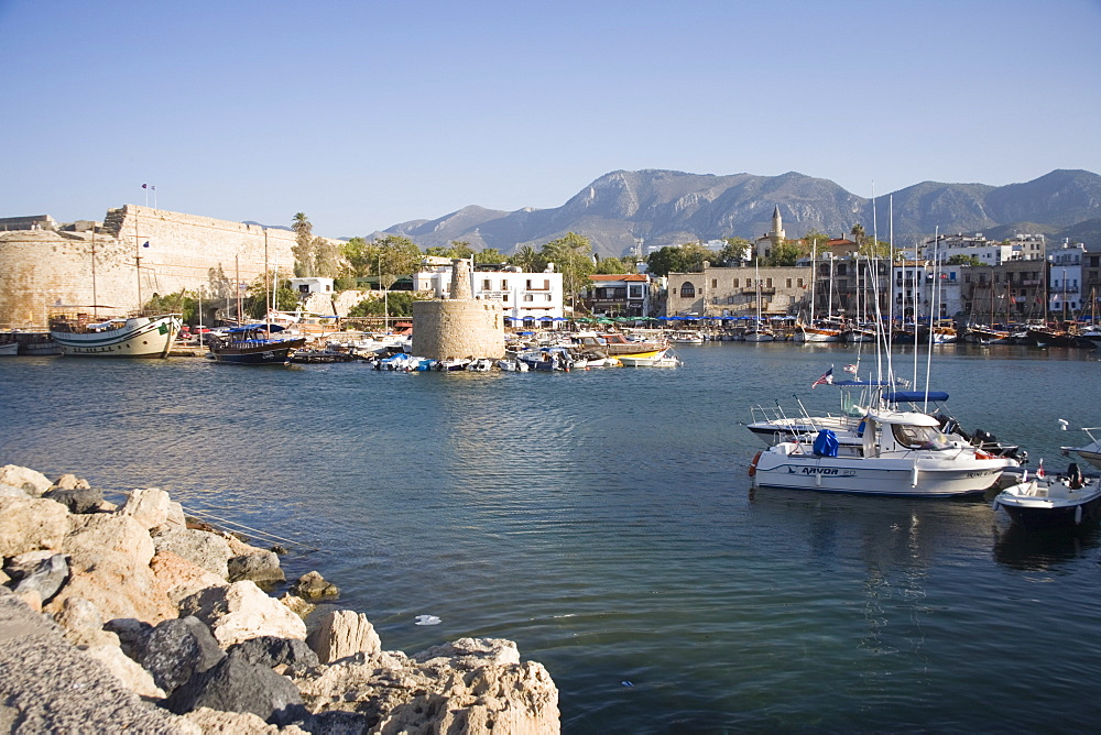 Fort and Harbour, Kyrenia, North Cyprus, Mediterranean, Europe - 783-81