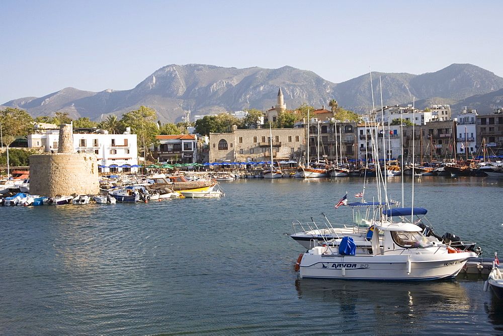 Fort and Harbour, Kyrenia, North Cyprus, Mediterranean, Europe - 783-82