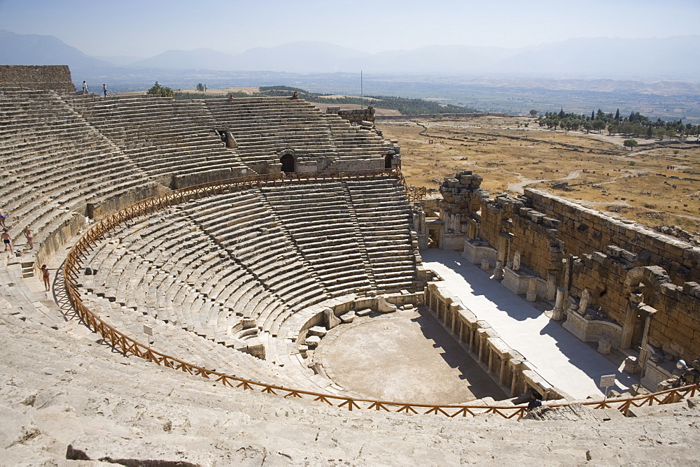 Theatre, built 200BC, archaeological site of Hierapolis, Pamukkale, UNESCO World Heritage Site, Anatolia, Turkey, Asia Minor, Eurasia - 783-96