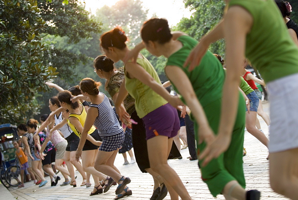 Learning to dance, Leshan, Sichuan, China, Asia