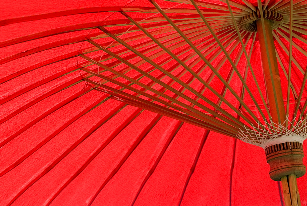 Red umbrella, Chiang Mai, Thailand, Southeast Asia, Asia - 784-220