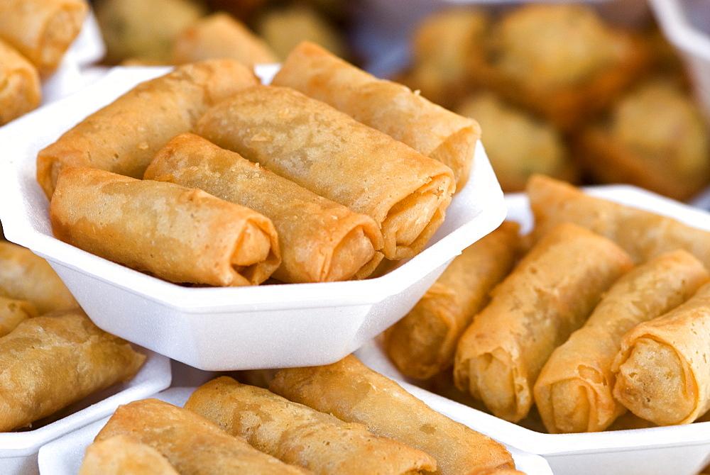 Spring rolls, Chatuchak weekend market, Bangkok, Thailand, Southeast Asia, Asia - 784-227