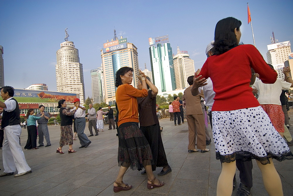 Ballroom dancing, early morning, Government Square, Kunming, Yunnan, China, Asia - 784-23