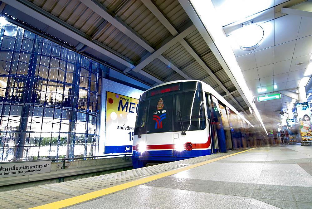 BTS Skytrain at station, Bangkok, Thailand, Southeast Asia, Asia - 784-286