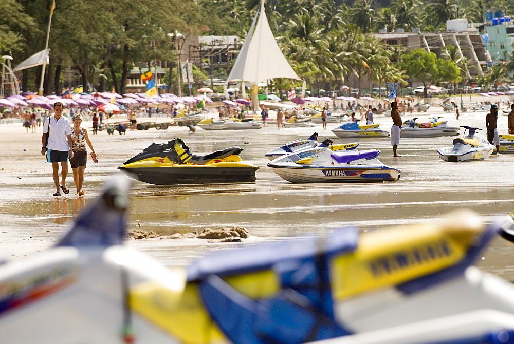 Jetskis, Patong beach, Phuket, Thailand, Southeast Asia, Asia - 784-296
