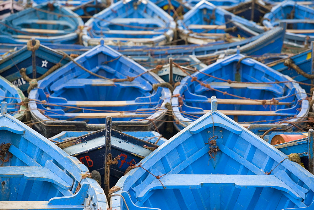 Traditional fishing boats, Essaouira, Morocco, North Africa, Africa - 785-10
