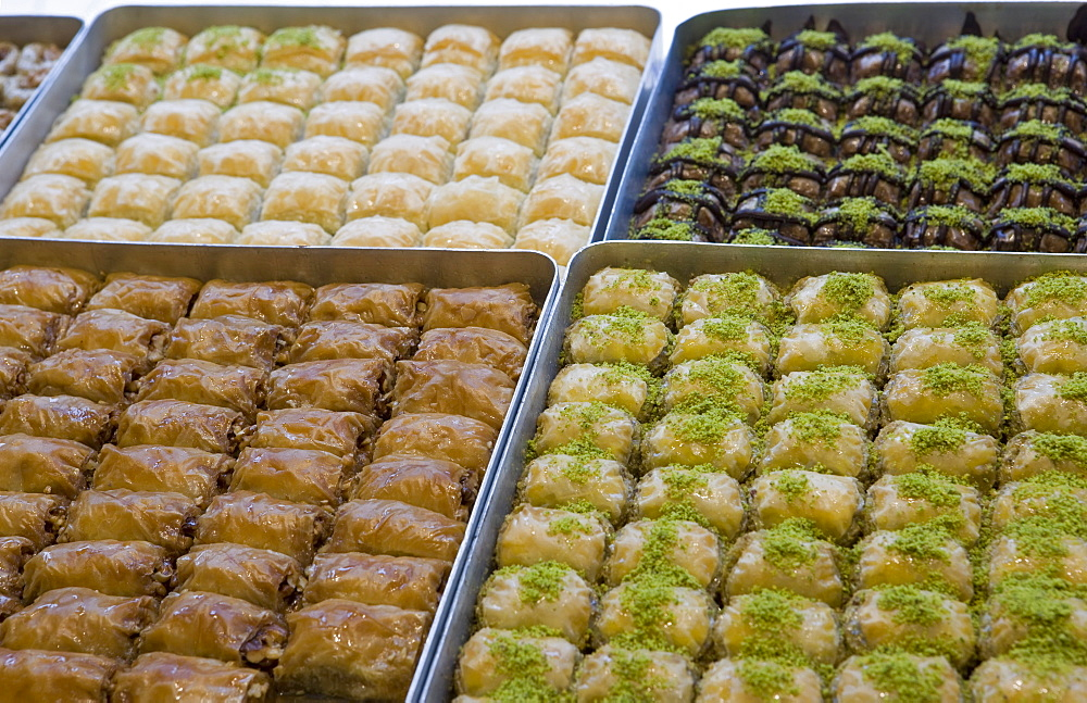 Baklava for sale, Istanbul, Turkey, Europe
