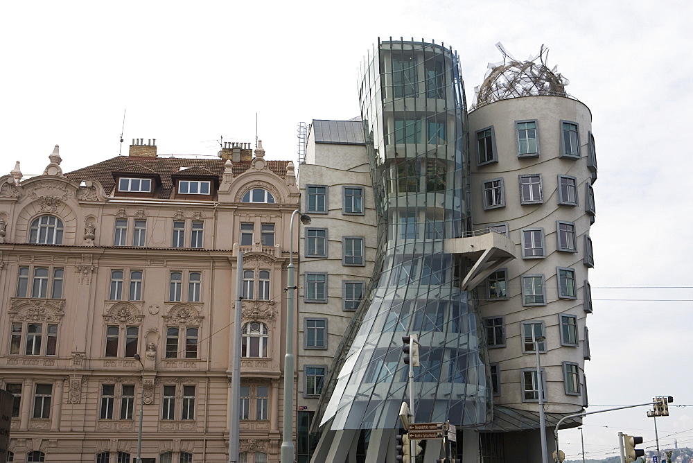 Dancing House (Fred and Ginger building), Prague, Czech Republic, Europe