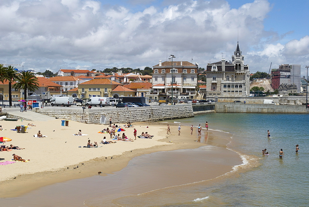 Beach and Harbour, Cascais, Portugal, Europe - 790-22