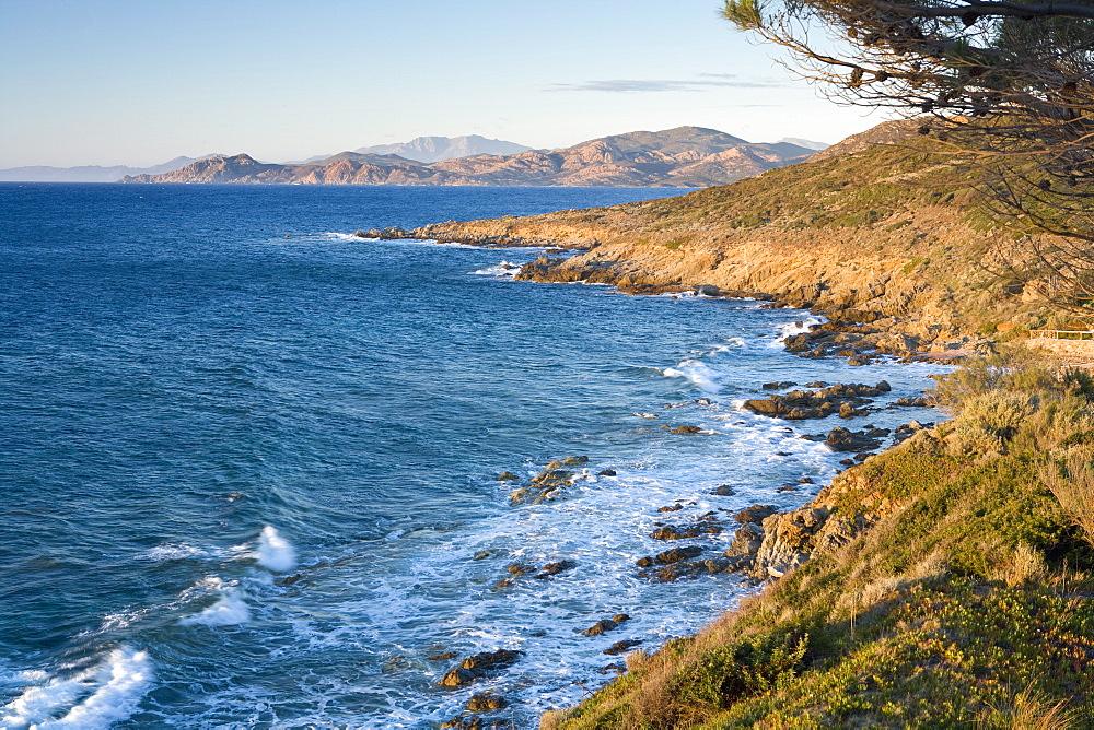 Coast near L'lle Rousse, Corsica, France, Mediterranean, Europe - 791-13