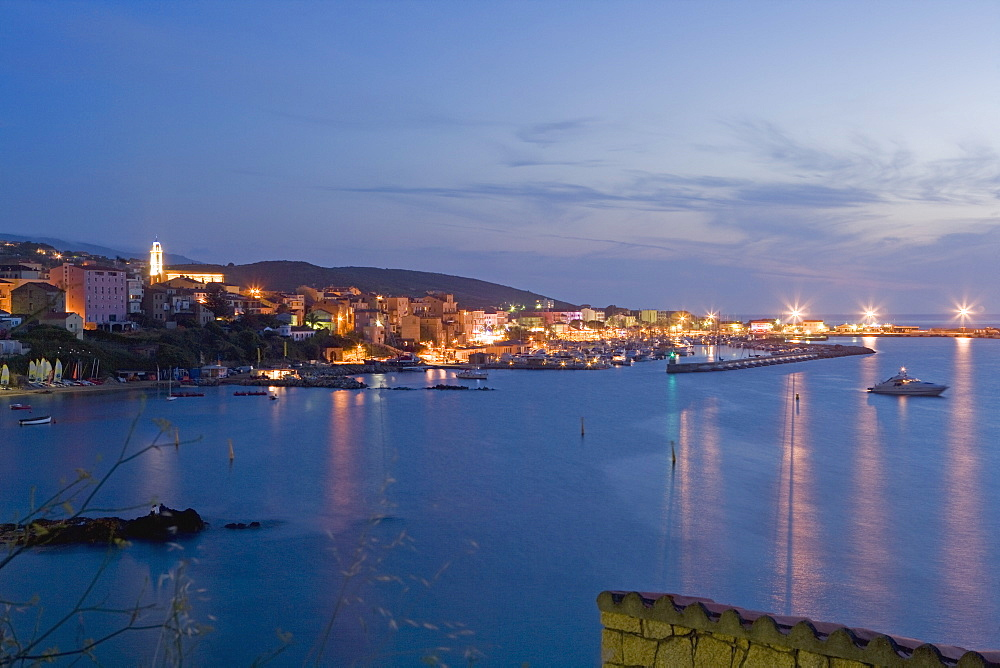 Propriano at dusk, Valinco region, Corsica, France, Mediterranean, Europe - 791-33