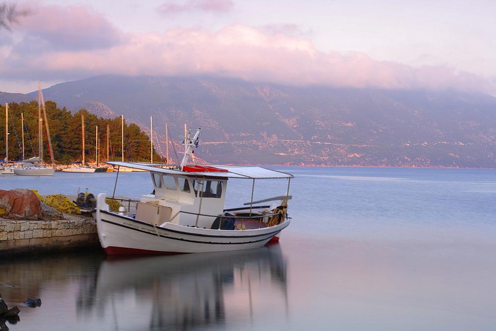 Fiscardo harbour, Kefalonia (Cephalonia), Ionian Islands, Greek Islands, Greece, Europe - 791-7