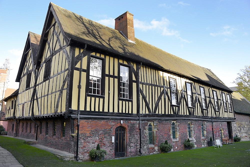 The Merchant Adventurers' Hall, a Medieval Guildhall, York, Yorkshire, England, United Kingdom, Europe