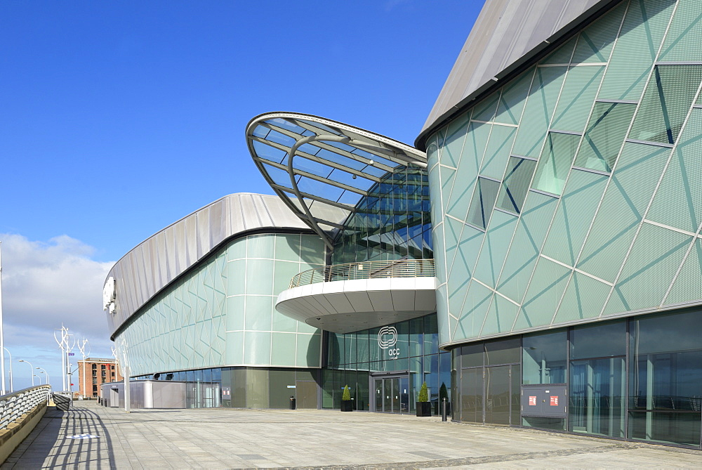 Echo Arena and BT Convention Centre, ACC Liverpool, Kings Dock, Liverpool, Merseyside, England, United Kingdom, Europe