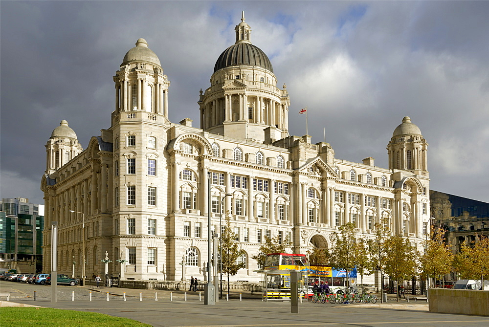 Port of Liverpool Building, Pier Head, UNESCO World Heritage Site, Waterfront, Liverpool, Merseyside, England, United Kingdom, Europe