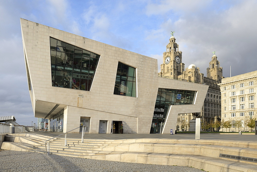 Ferry Terminal, Pier Head, Waterfront, Liverpool, Merseyside, England, United Kingdom, Europe