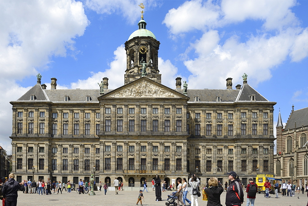 Royal Palace, Dam Square, Amsterdam, North Holland, Netherlands, Europe