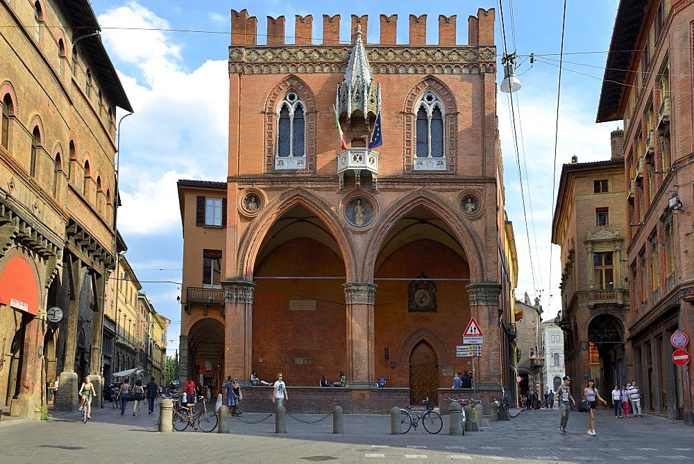 Historical Loggia Mercanzia, Palazzo della Mercanzia, Bologna, Emilia-Romagna, Italy, Europe - 792-818