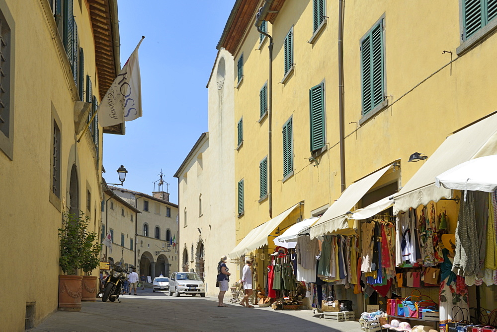 Shops in the centre of the old town, Radda in Chianti, Tuscany, Italy, Europe - 792-823