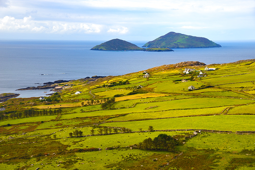 View from the roadside, Ring of Kerry, Iveragh Peninsula, Wild Atlantic Way, County Cork, Munster, Republic of Ireland, Europe - 792-845