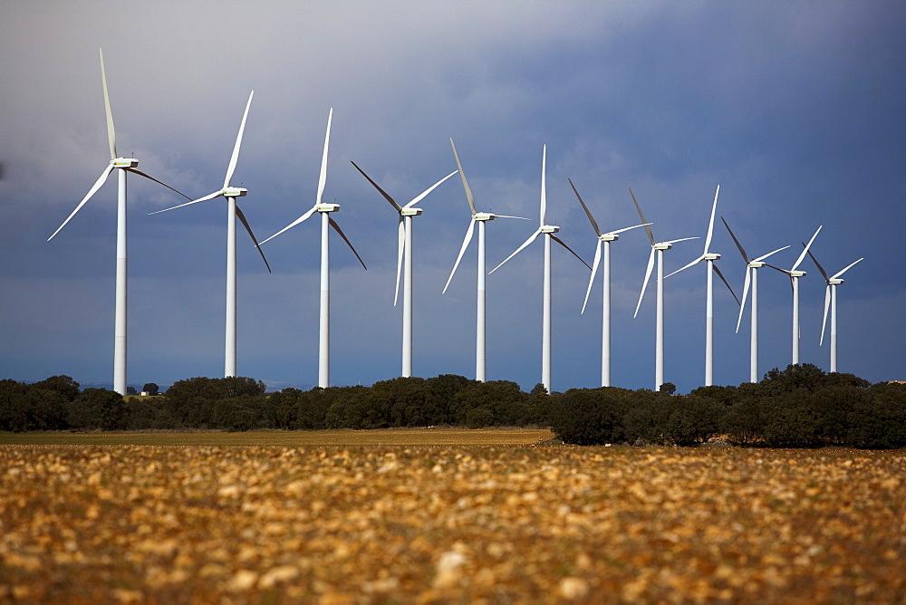 Wind turbines, Albacete, Castilla-La Mancha, Spain, Europe - 793-1010