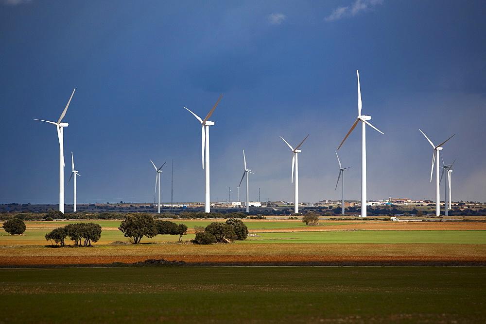 Wind turbines, Albacete, Castilla-La Mancha, Spain, Europe - 793-1011