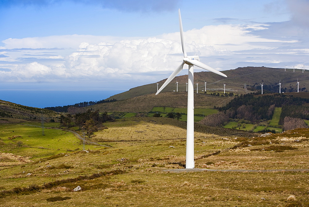 Wind farm, Ortiguera area, A Coruna, Galicia, Spain, Europe - 793-1027