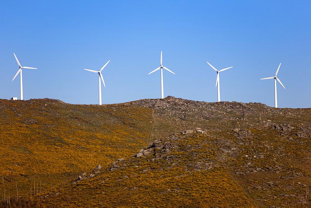 Wind farm, Pontevedra area, Galicia, Spain, Europe - 793-1029