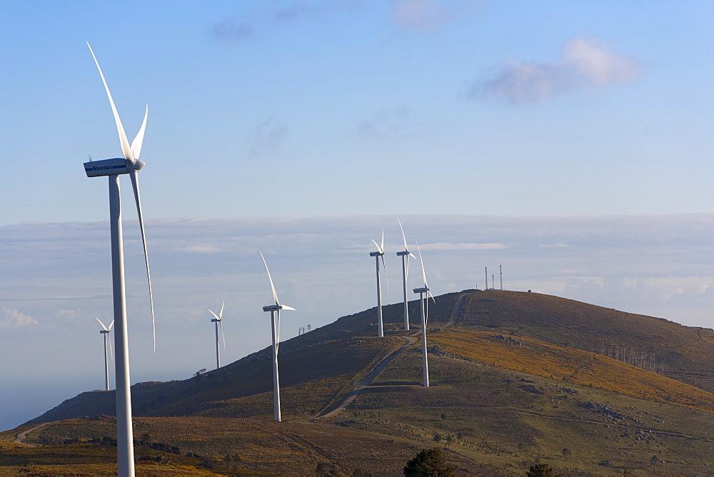 Wind farm, Pontevedra area, Galicia, Spain, Europe - 793-1030
