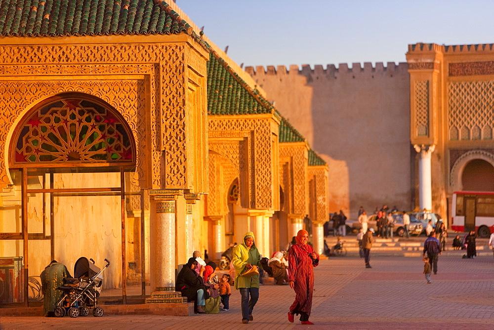 Place el Hedim, Meknes, UNESCO World Heritage Site, Morocco, North Africa, Africa - 793-1047