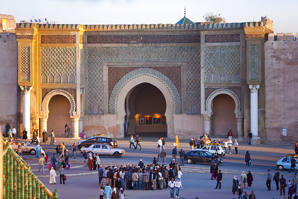 Place el Hedim, Bab Mansour, Meknes, UNESCO World Heritage Site, Morocco, North Africa, Africa - 793-1048