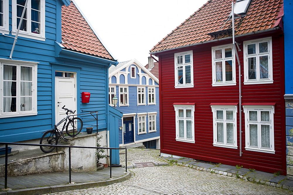 Strangehagen street, Stransidden District, Bergen, Hordaland, Norway, Scandinavia, Europe - 793-1120