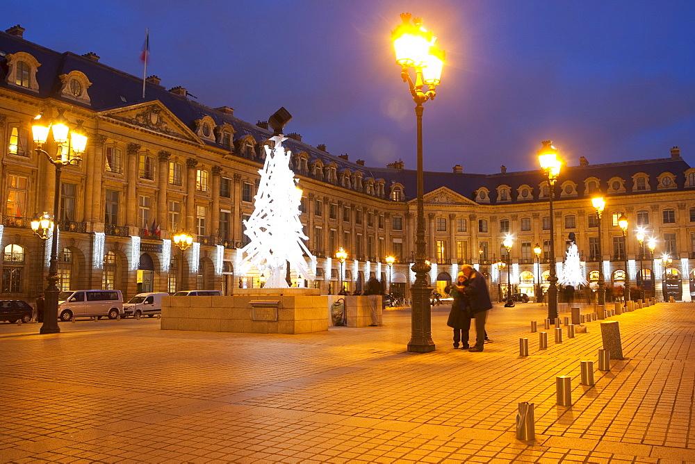 Place Vendome at Christmas time, Paris, France, Europe - 793-1131