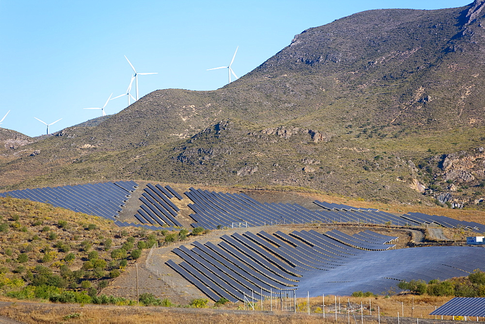 Solar plant, Lucainena de las Torres, Almeria, Andalucia, Spain, Europe - 793-1153