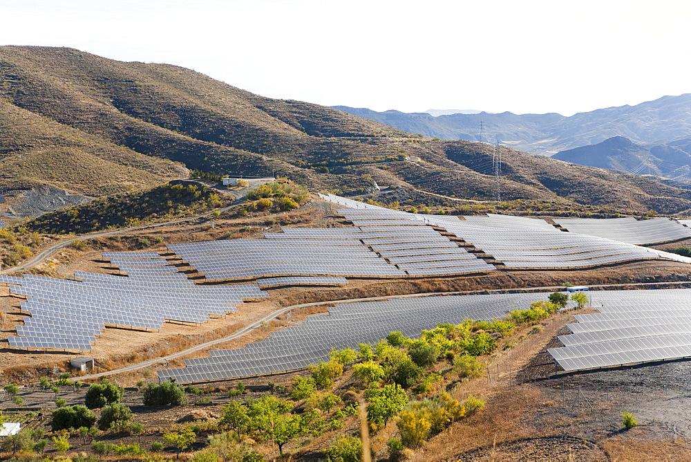 Solar plant, Lucainena de las Torres, Almeria, Andalucia, Spain, Europe - 793-1154