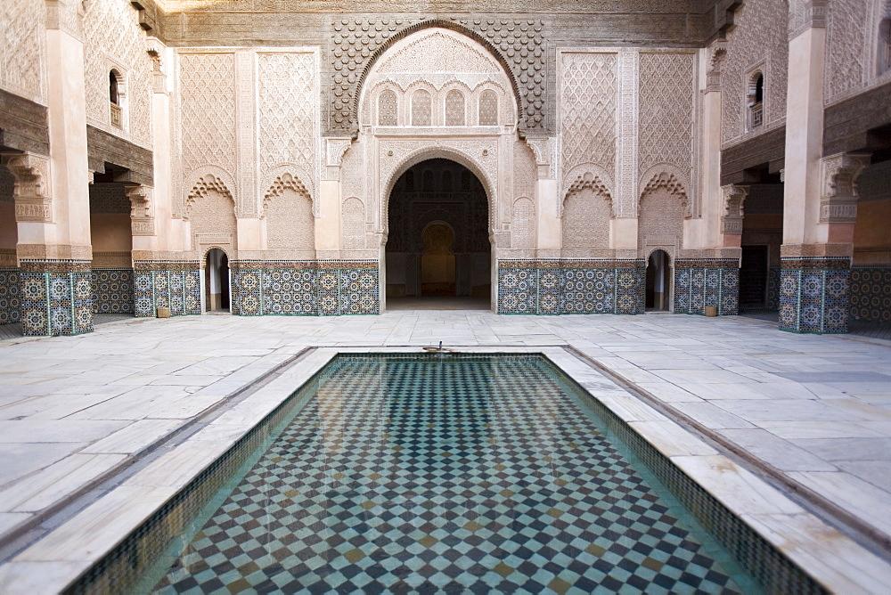 Medersa Ben Youssef, Marrakech, Morocco, North Africa, Africa - 793-164