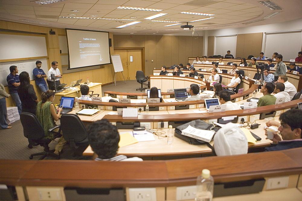 Classroom, Indian School of Business, Hi-Tech City, Hyderabad, Andhra Pradesh state, India, Asia