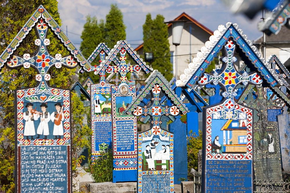 Merry Cemetery, Sapanta, Maramures, Romania, Europe - 793-962