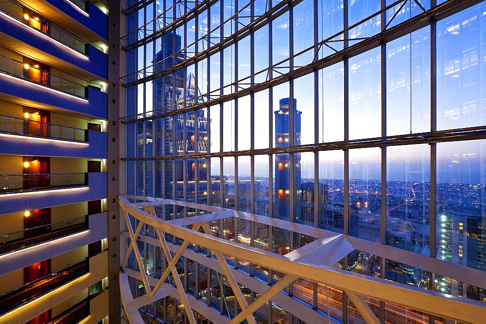 Modern architecture inside a luxury office and hotel building, Dubai, United Arab Emirates, Middle East - 794-1134