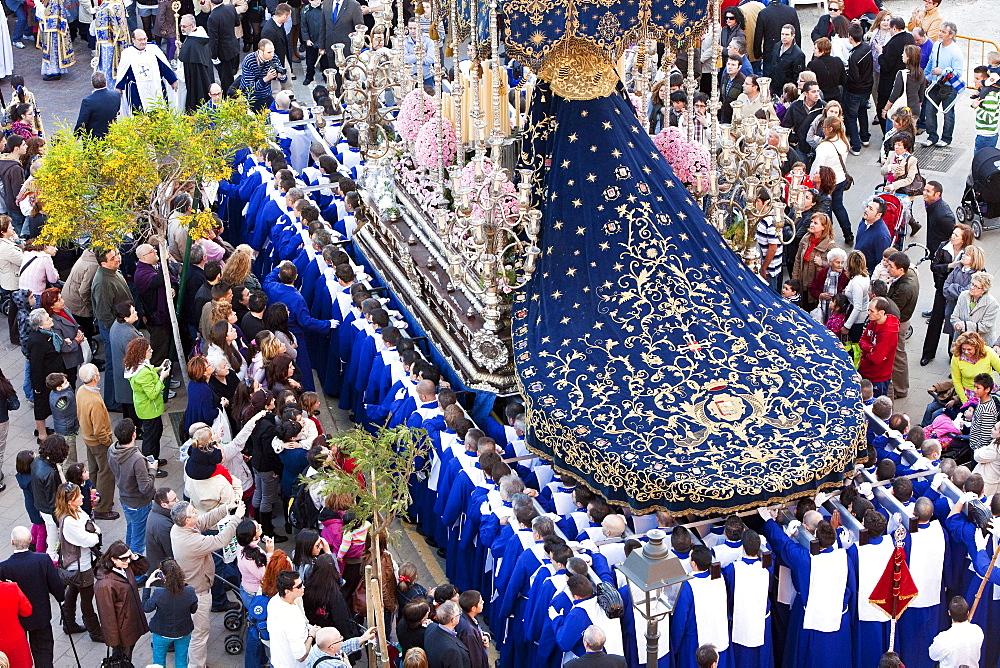 Semana Santa (Holy Week) celebrations, Malaga, Andalucia, Spain, Europe - 794-1161