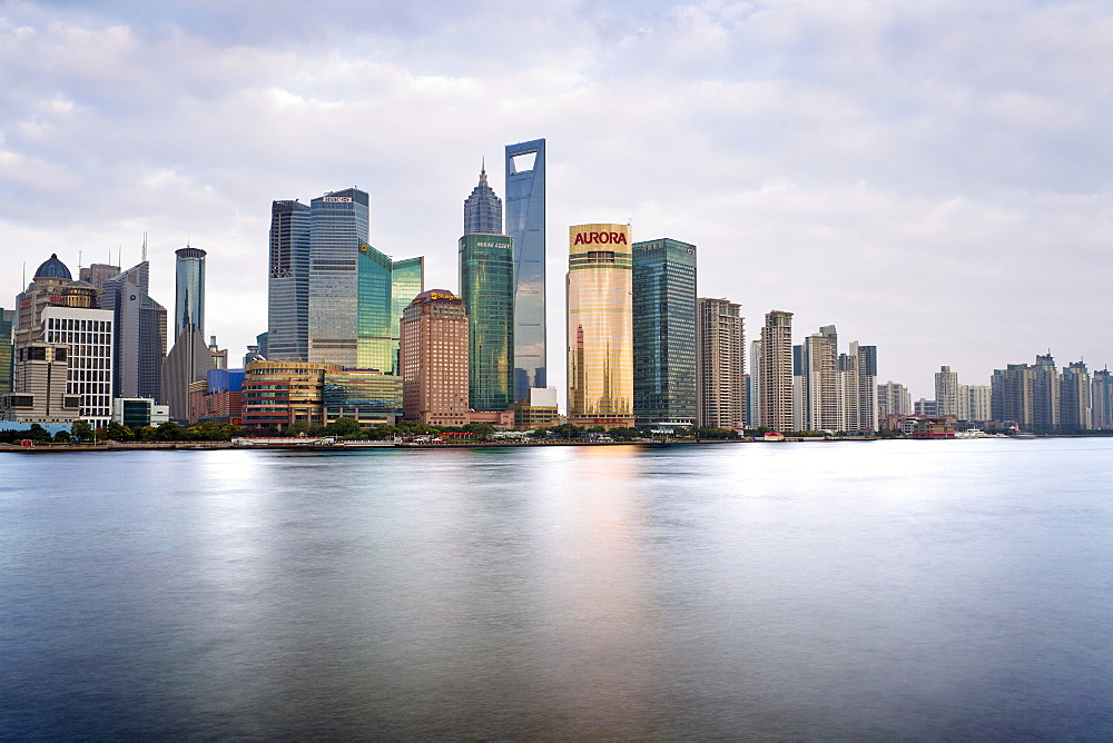 New Pudong skyline, looking across the Huangpu River from the Bund, Shanghai, China, Asia - 794-1211