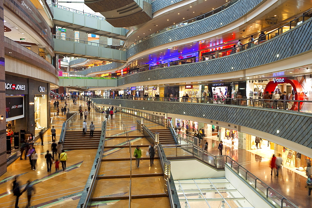 Modern shopping complex in the new Pudong district, Shanghai, China, Asia
