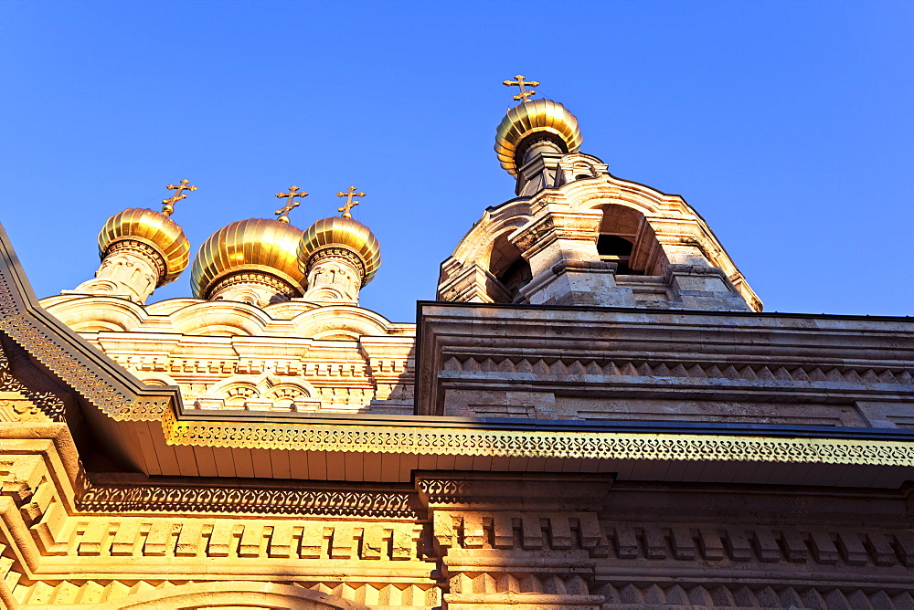 The Russian Church of Mary Magdalene on the Mount of Olives, Jerusalem, Israel, Middle East