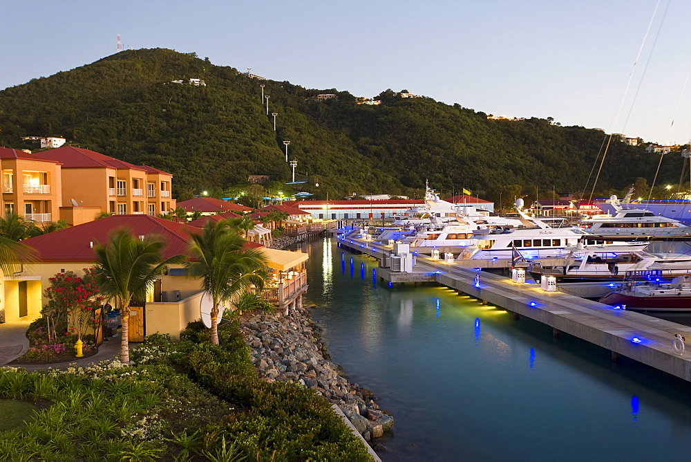 Yacht Haven Grande, the new Yacht Harbour, shopping and restaurant complex completed in 2007, St. Thomas, U.S. Virgin Islands, West Indies, Caribbean, Central America