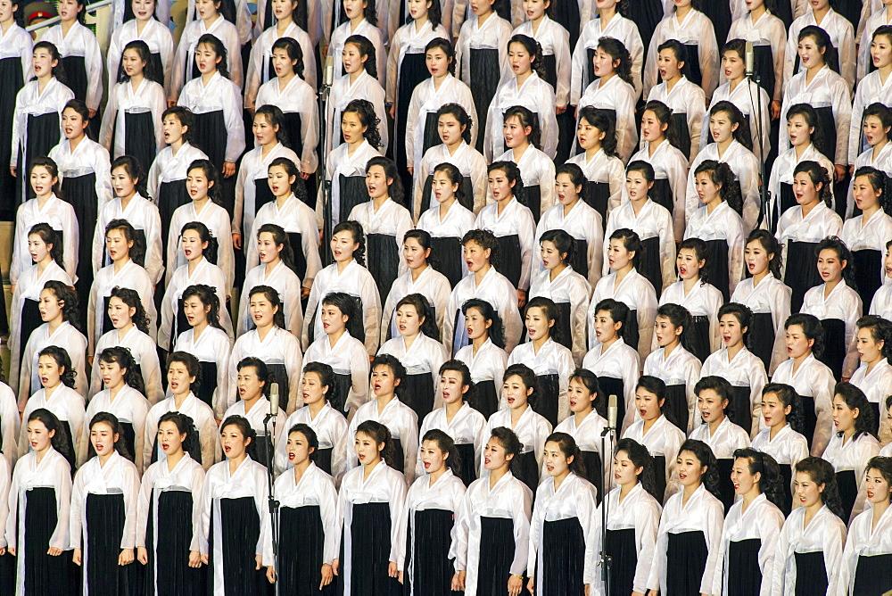 Pyongyang Indoor Stadium performance, Pyongyang, Democratic People's Republic of Korea (DPRK), North Korea, Asia - 794-3508