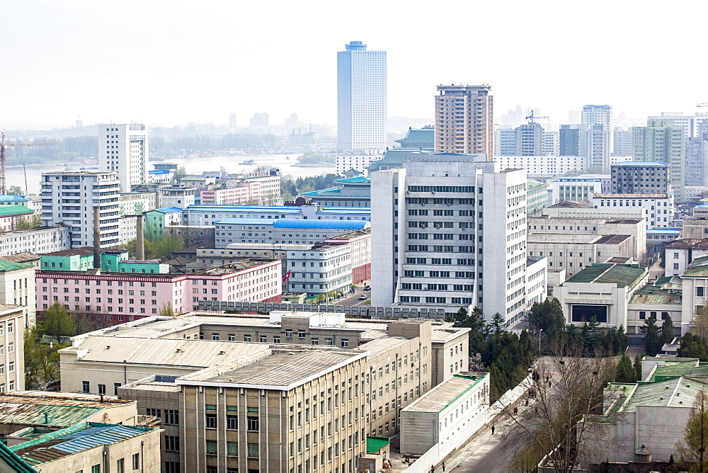 City skyline, Pyongyang, Democratic People's Republic of Korea (DPRK), North Korea, Asia