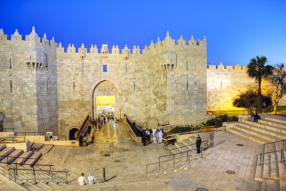 Damascus Gate, Old City, UNESCO World Heritage Site, Jerusalem, Israel, Middle East