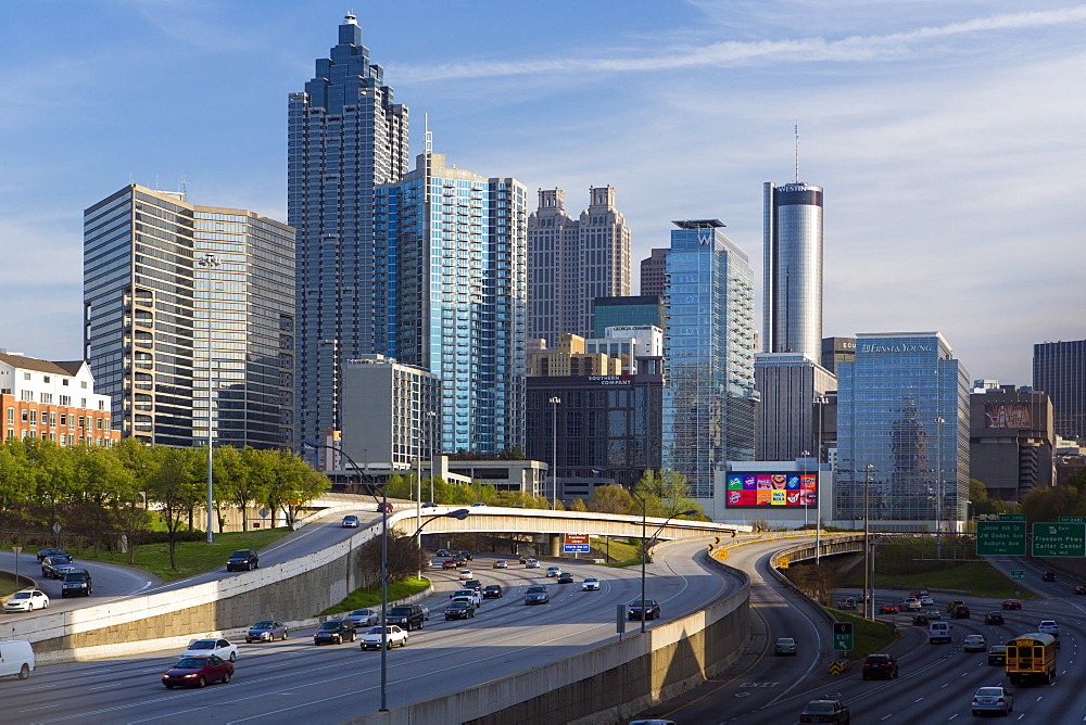 Interstate I-85 leading into Downtown Atlanta, Georgia, United States of America, North America